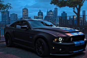 Wallpaper Black Ford Mustang, Car, Muscle Cars, Luxury