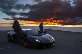 Wallpaper Black Lambhorgini Gallardo, Car, Lamborghini