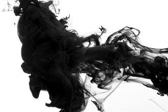 Wallpaper Black, Smoke, White Background, Abstract