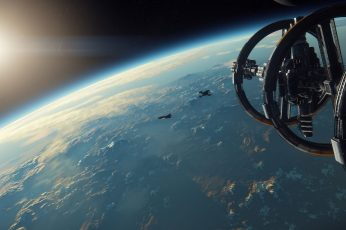 Wallpaper Black Spaceship, Science Fiction, Star Citizen