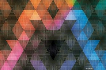 Wallpaper Blue And Pink Pixelated Wallpaper, Multicolored