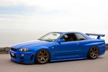 Wallpaper Blue Nissan Gtr Coupe, Skyline, Nissan Skyline