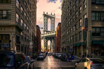 Wallpaper Brooklyn Bridge, New York, New York City