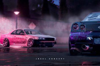 Wallpaper Car, Vehicle, Nissan Gt R, Nissan Skyline