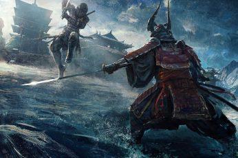 Wallpaper Concept Art, Samurai, Tokyo, Digital Art, Japanese