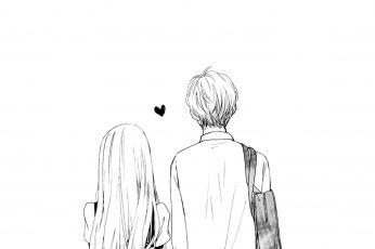 Wallpaper Couple, Love, Heart, Romantic, Illustration