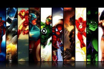 Wallpaper Dc Super Heroes Illustration, Marvel