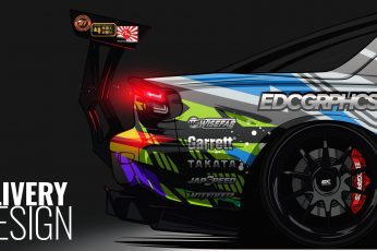 Wallpaper Edc Graphics, Mazda Rx 7 Fd, Render, Japanese Cars