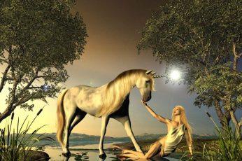 Wallpaper Fantasy Cgi Unicorns Horses 1024×769 Animals