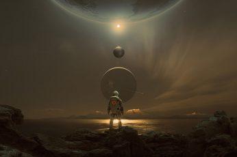 Wallpaper Fantasy, Science Fiction, Mountains, Sci Fi