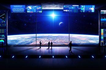 Wallpaper Game Application, Space, Spaceship, Futuristic