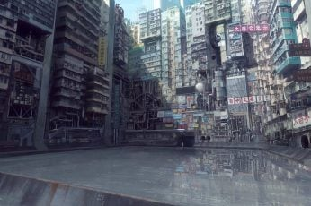 Wallpaper Ghost In The Shell, Digital Art, Urban, City