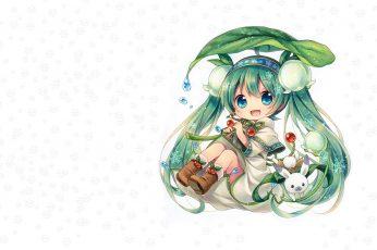 Wallpaper Girl, Flowers, Snowflakes, Spring, Anime, Art