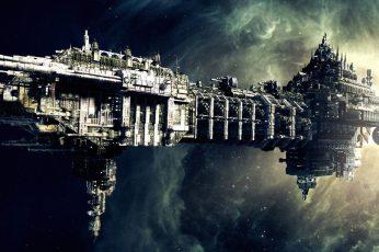 Wallpaper Gray Battleship Wallpaper, Space, Science Fiction
