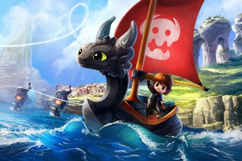Wallpaper How To Train Your Dragon, Chibi, Hiccup