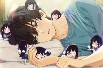 Wallpaper Hyouka, Anime Girls, Anime Boys, 2d, Long Hair
