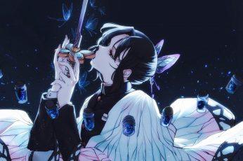 Wallpaper Kimetsu No Yaiba, Anime Girls, Fantasy Weapon