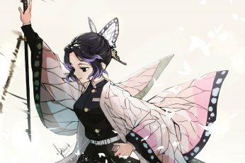 Wallpaper Kimetsu No Yaiba, Anime Girls, Japanese Kimono