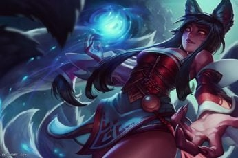 Wallpaper League Of Legends Ahri, Video Games, Fox Girl,