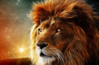 Wallpaper Lion Digital Wallpaper, Animals, Dog, Hunting