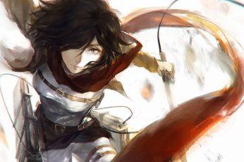 Wallpaper Mikasa From Attack On Titan, Shingeki No Kyojin