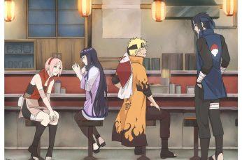 Wallpaper Naruto Illustration, Hinata, Sakura, Naruto