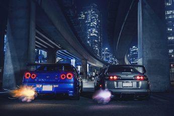 Wallpaper Nissan, Toyota, Cars, Supra, Skyline, Sport