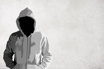 Wallpaper Person In White Hoodie Vector Art, Dark, Faceless
