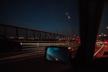 Wallpaper Person Inside Car Taking Photo On Bridge