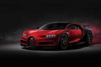Wallpaper Red And Black Bugatti Chiron, Bugatti Chiron