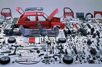 Wallpaper Red Car Pars, Volkswagen, Golf Gti, Vehicle