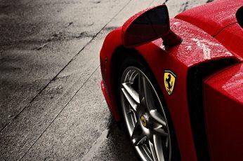 Wallpaper Red Ferrari Car, Ferrari Enzo, Sign