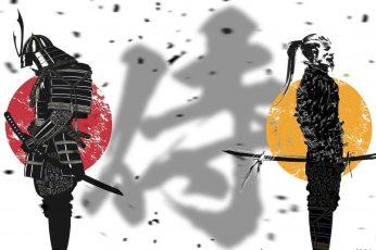 Wallpaper Samurai, Japanese, Medieval, Weapon, Armor