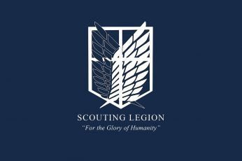Wallpaper Scouting Legion Logo, Anime, Attack On Titan