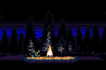 Wallpaper Shovel Knight, Digital Art, Video Games, Pixel