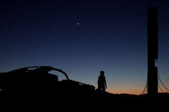 Wallpaper Silhouette Of Car, Half Life 2, Citadel