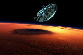 Wallpaper Star Wars Millennium Falcon Digital Wallpaper