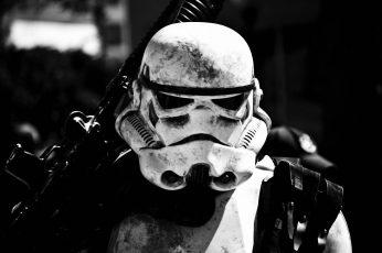 Wallpaper Star Wars Trooper Wallpaper, Grayscale Photo