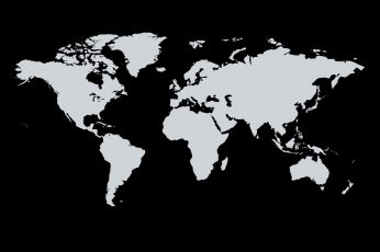 Wallpaper The World, Continents, Black Background