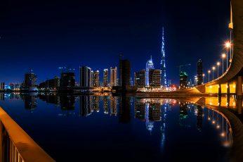 Wallpaper United Arab Emirates Calm Night In Dubai City