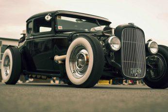 Wallpaper Vintage Black Vehicle, Car, Ford, Roadster