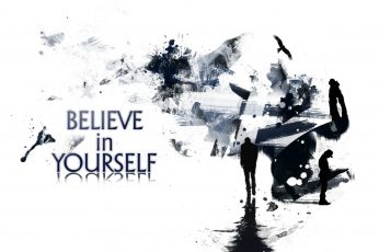 Wallpaper White Background With Yourself Text Overlay