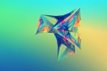 Facets wallpaper, abstract, gradient
