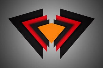 Red, orange, and black logo wallpaper, triangle