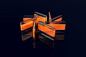 Orange plastic cases wallpaper