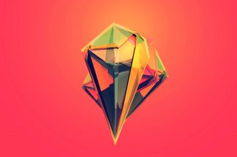 Yellow and red diamond logo wallpaper