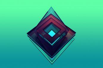 Triangular red and green logo illustration wallpaper