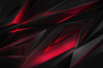 Abstract wallpaper, 3D, digital art, dark, red
