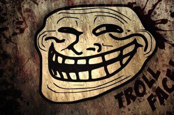 Wallpaper Beige And Black Troll Face Wallpaper, Trollface