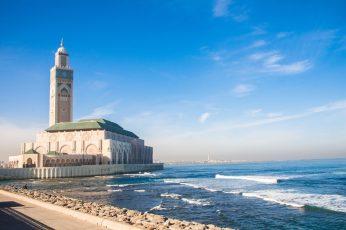 Wallpaper Casablanca, Morocco, Hassan 2 Mosque